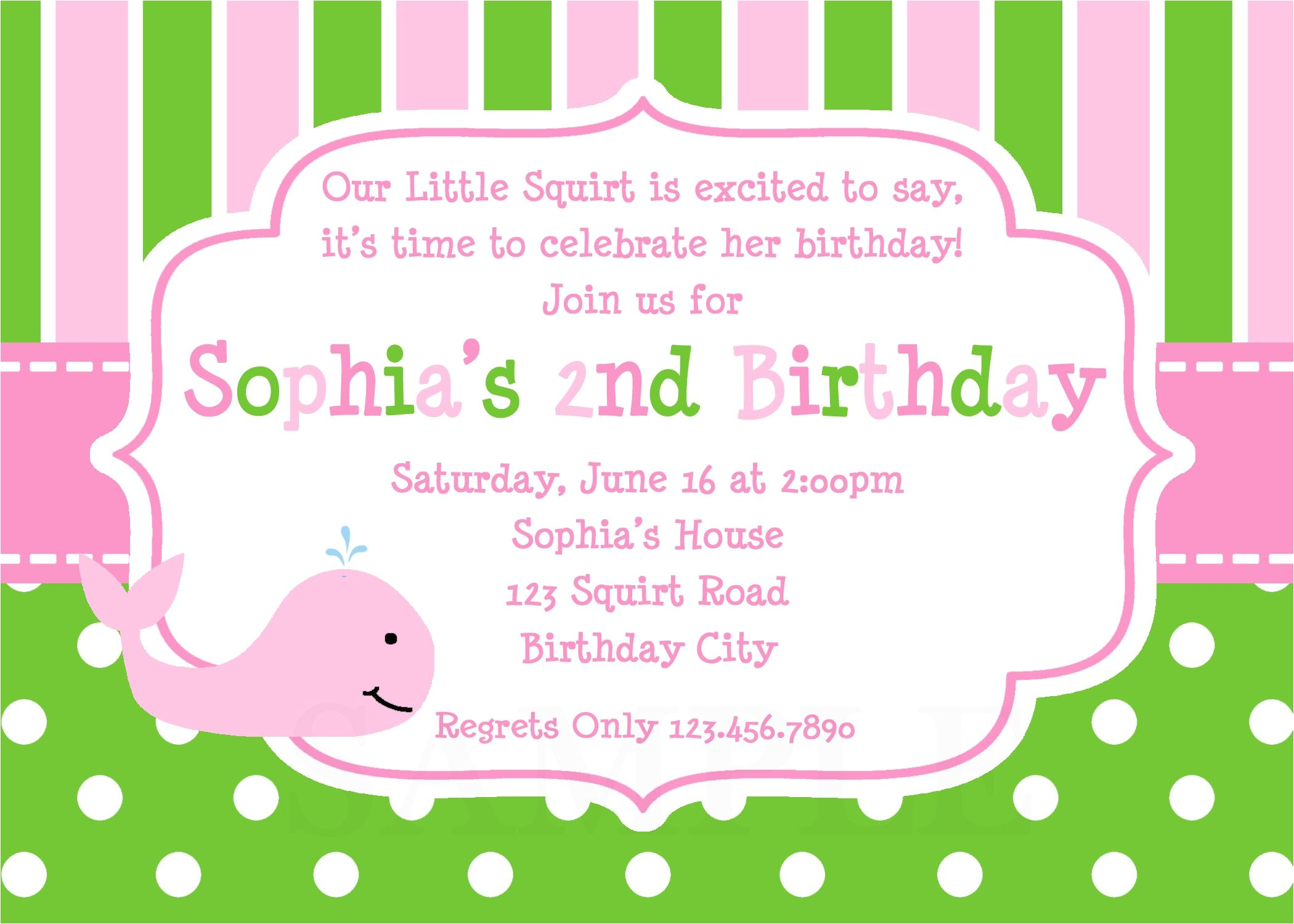 kids birthday invitation wording