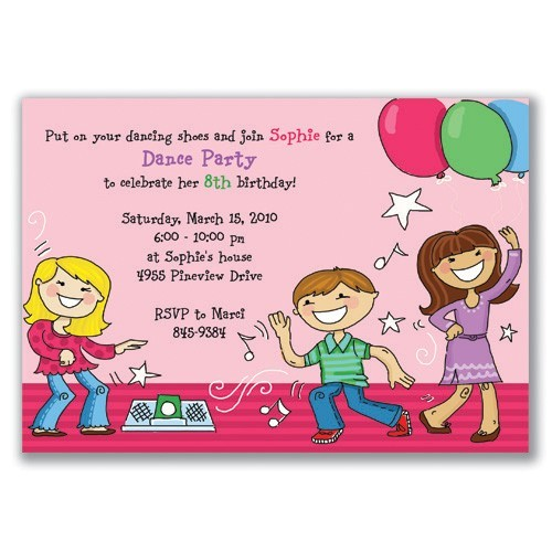 kids birthday party invitation wording 3