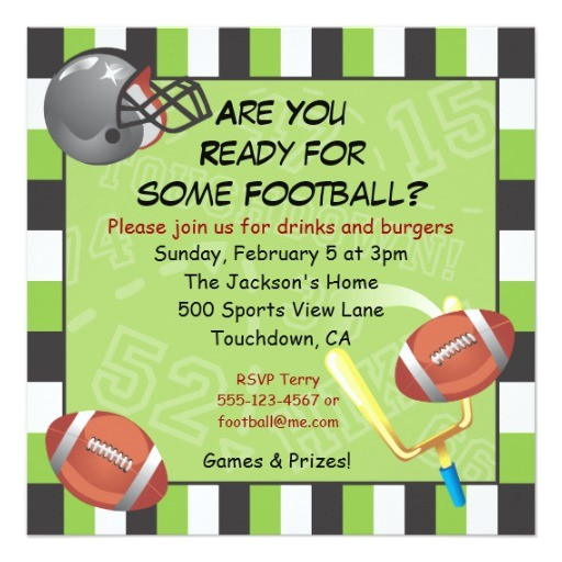 football party invitation for adults or kids 161788151741306435
