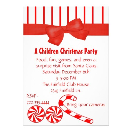 kids christmas party invitation 161546965558195054