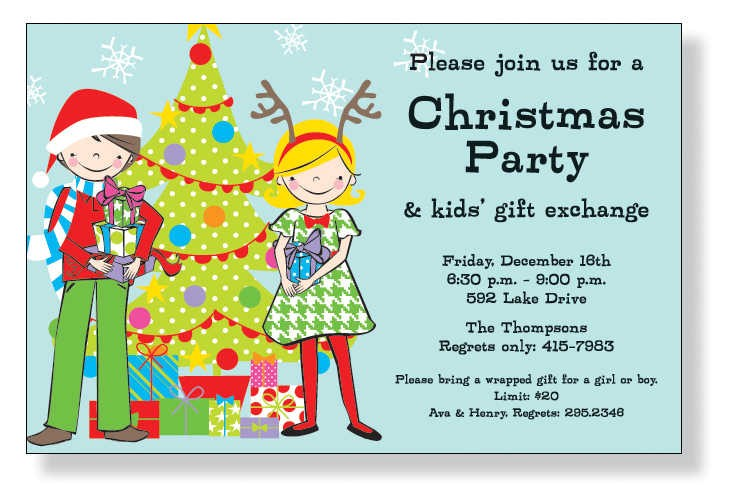 kids christmas party invitations