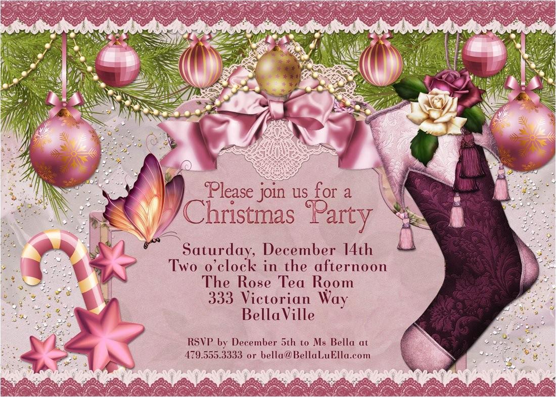 christmas party invitation victorian