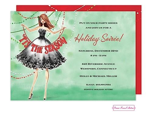 ladies christmas party invitations