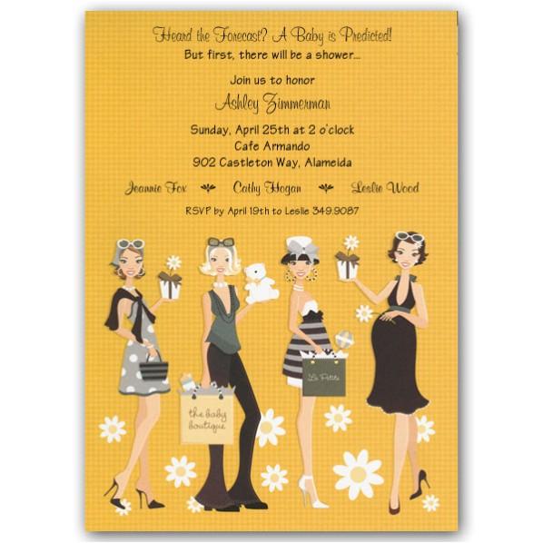daisy ladies yellow baby shower invitations p 109 in 153