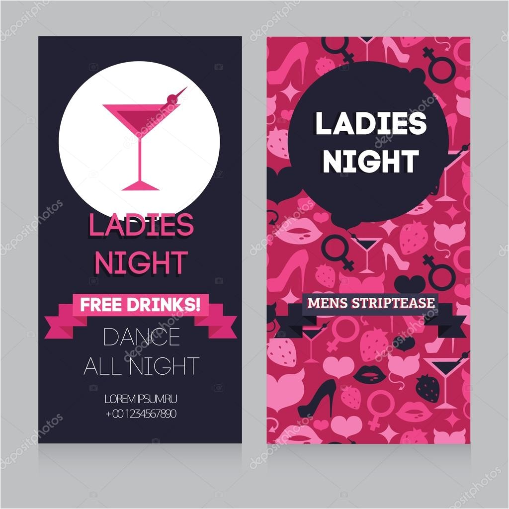 stock illustration girls only party invitation template