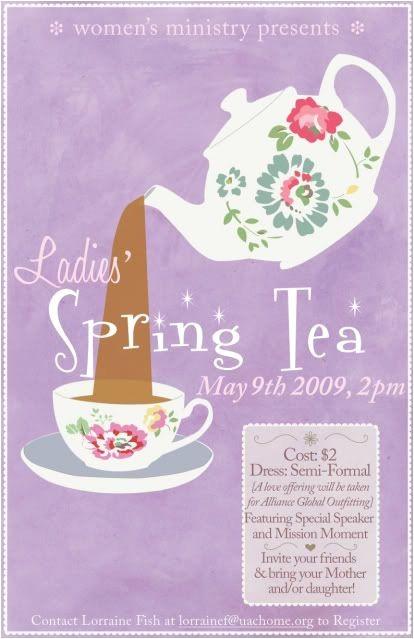 spring tea invites