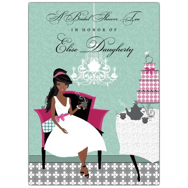 Ladies Tea Party Invitations Ladies Tea African American Bridal Shower Invitations