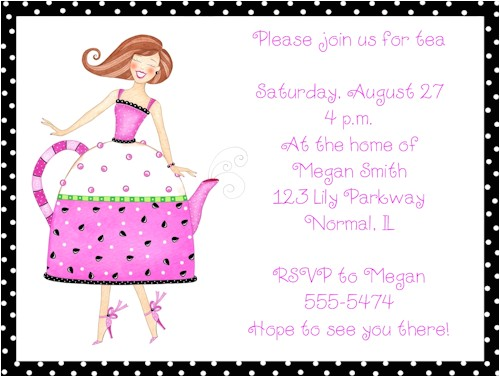 ladies tea party invitations