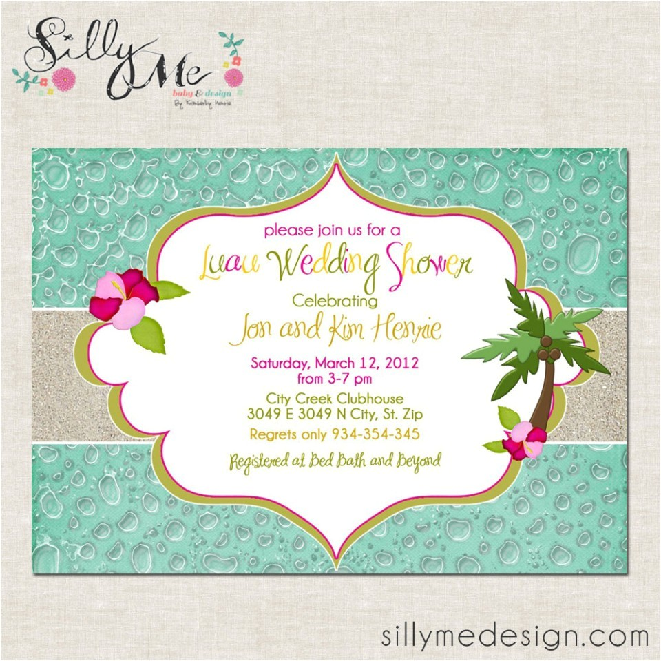 custom luau invitations for your tropical getaway