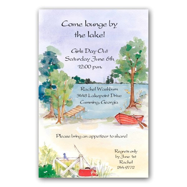 lounge at the lake party invitations clearance p 73 21180i