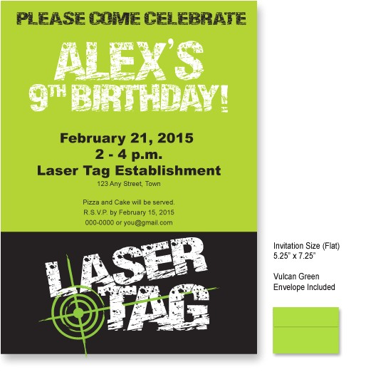 Laser Tag Party Invitations Free 9 Best Images Of Laser Tag Invitations Free Printable