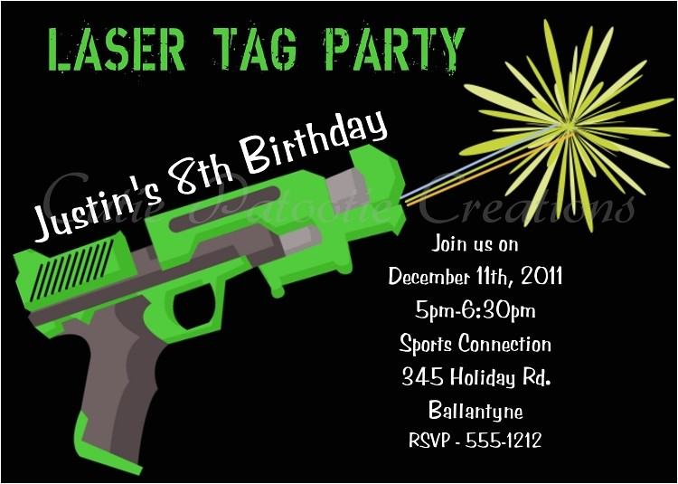 post laser tag invitations free printable 302645