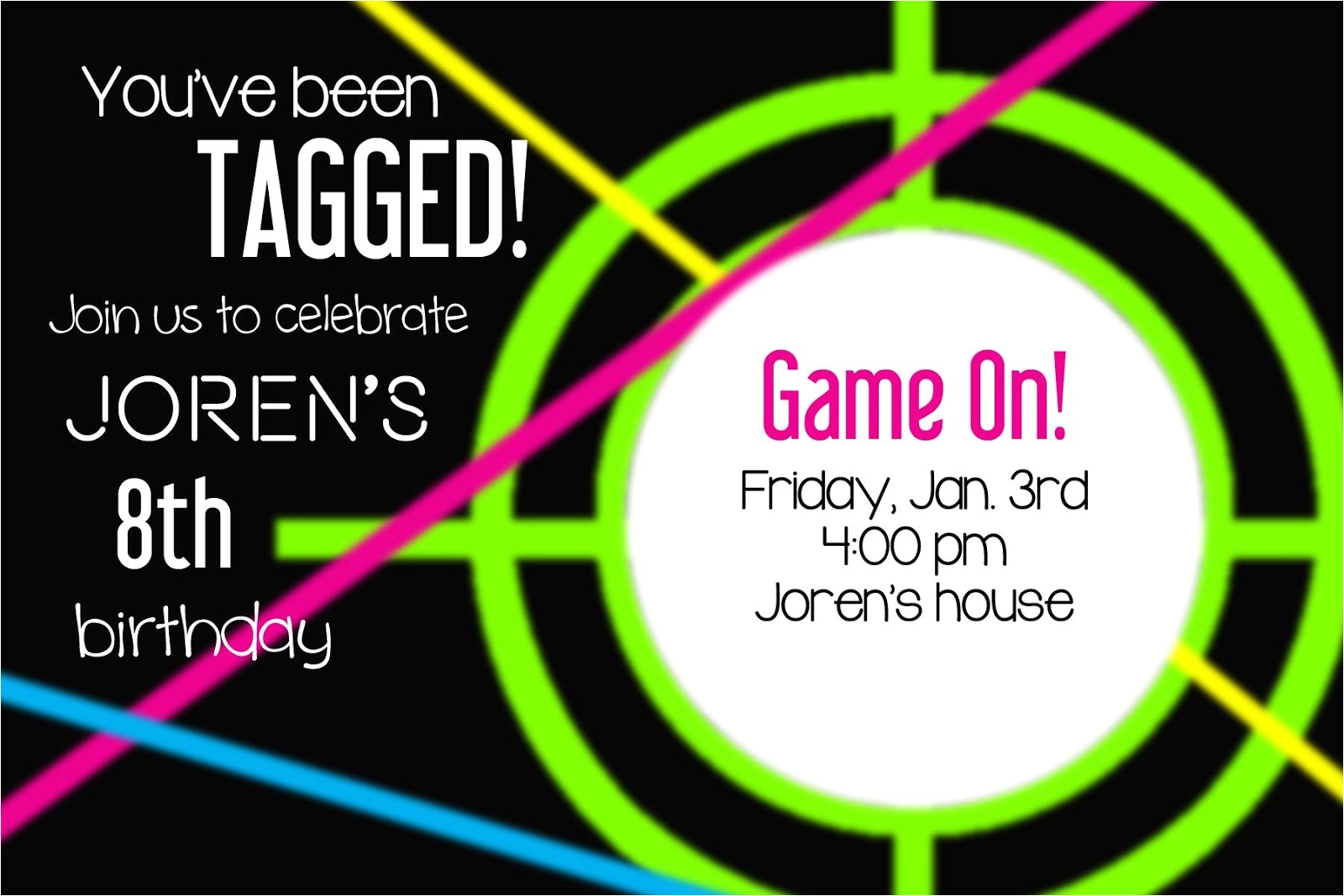 Laser Tag Party Invites Free Laser Tag Party Invitations Template Free Cimvitation