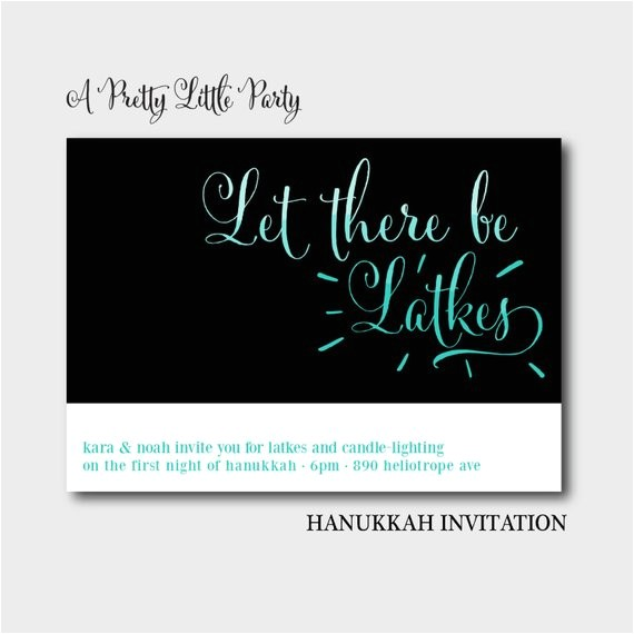 hanukkah latke invitation holiday party invite