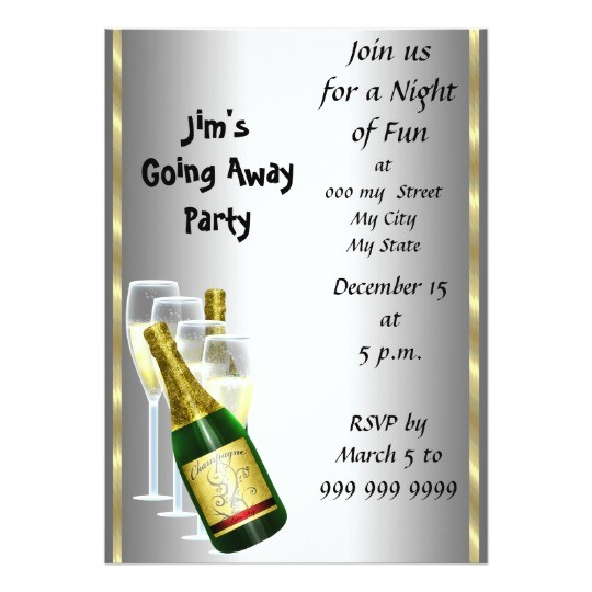 farewell party invitation card 161185911002126812
