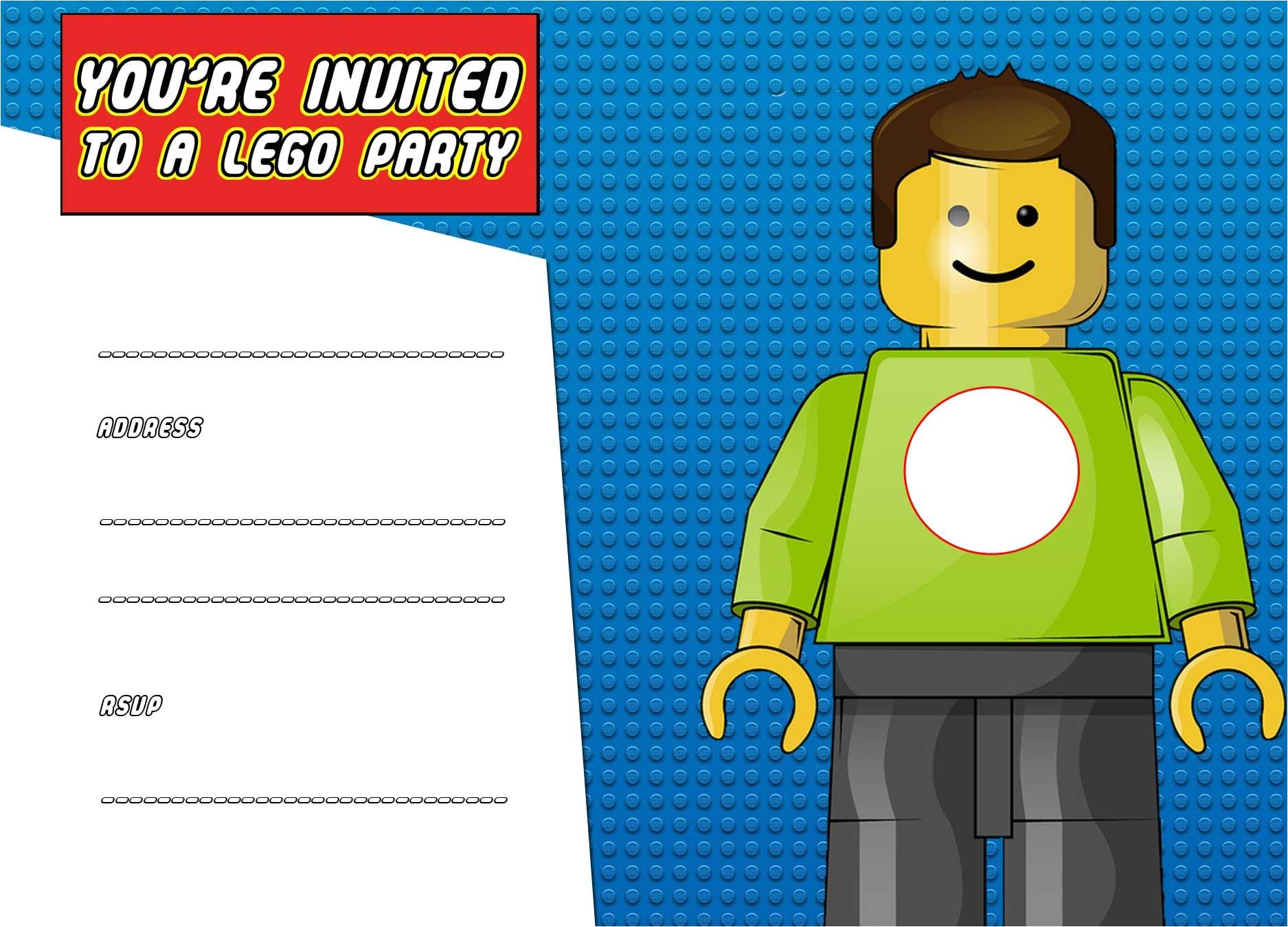 free printable lego birthday invitation template