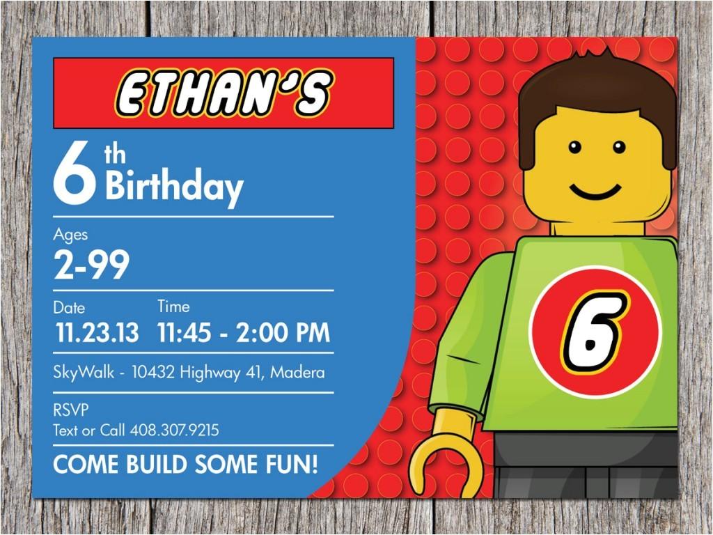 lego birthday party invitation ideas