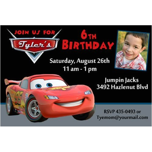 lightning mcqueen birthday party invitations