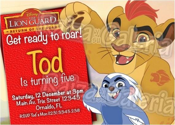 the lion guard birthday invitation we