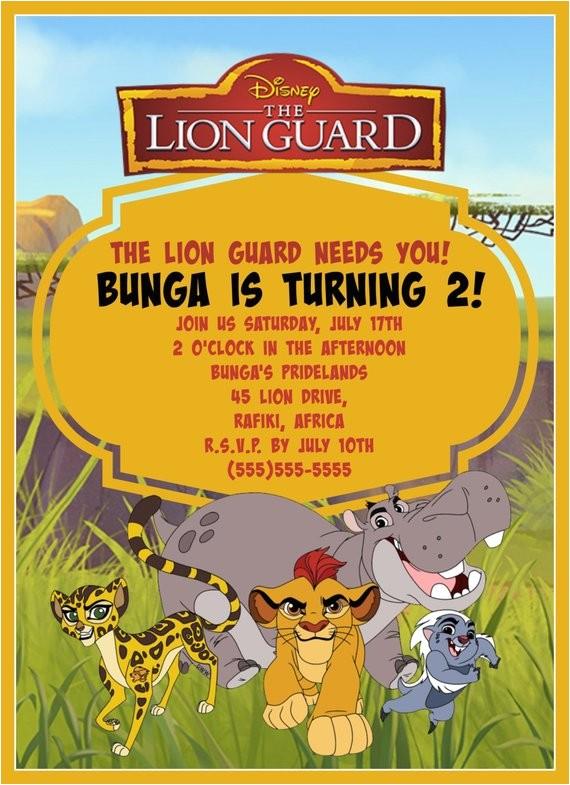 lion guard birthday invitation digital