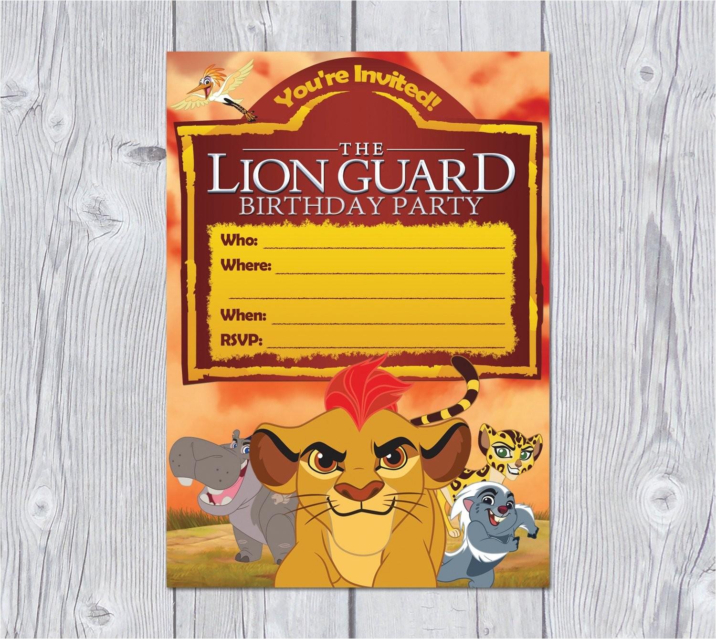 lion guard invitation instant download