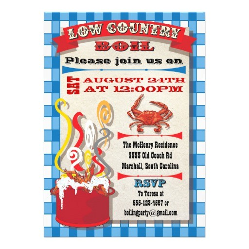 low country boil party invitation 161127964854163951