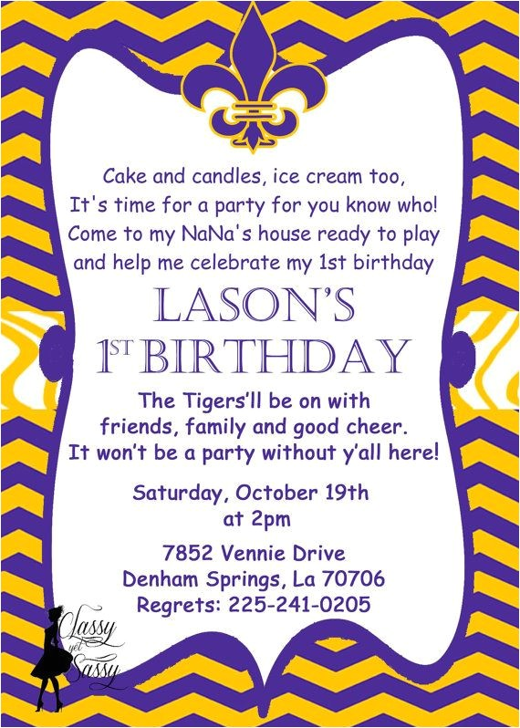 lsu bday party