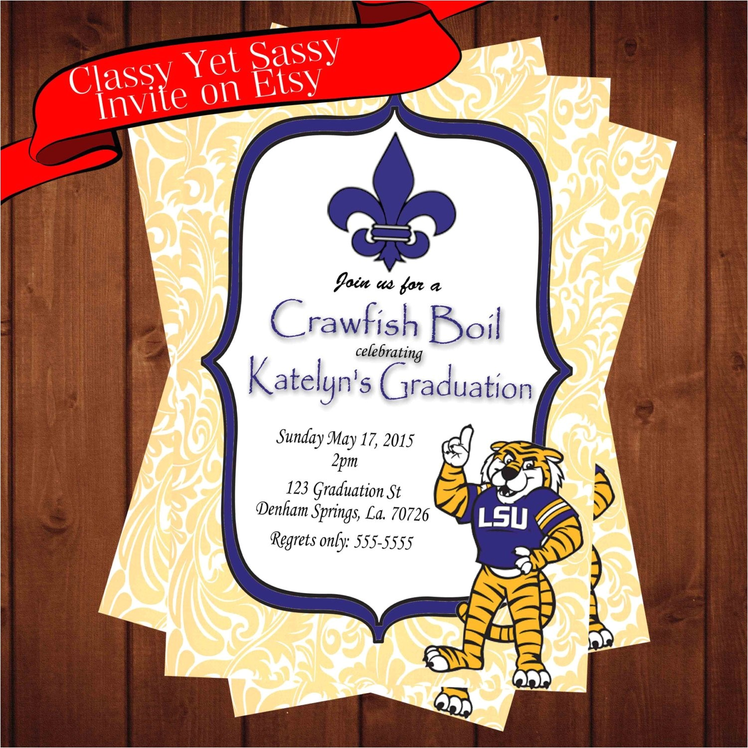 graduation invitation lsu graduation