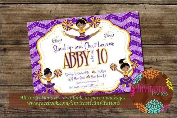 lsu cheerleader birthday invitation lsu