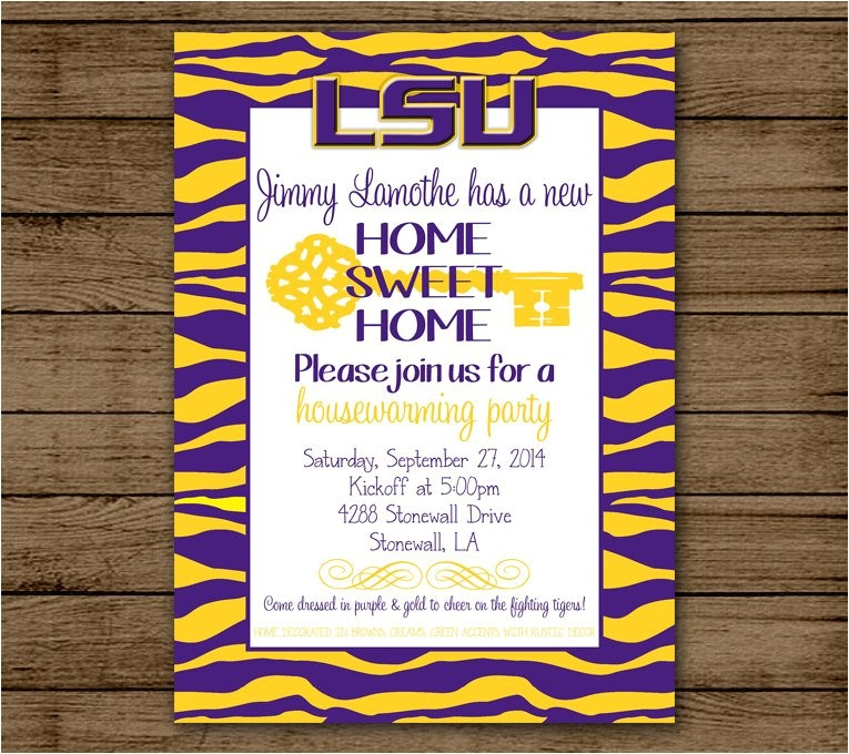 lsu housewarming invitation louisiana