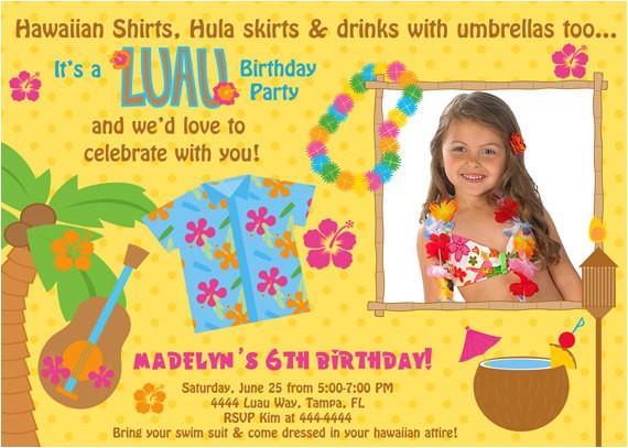 luau birthday invitations free printable