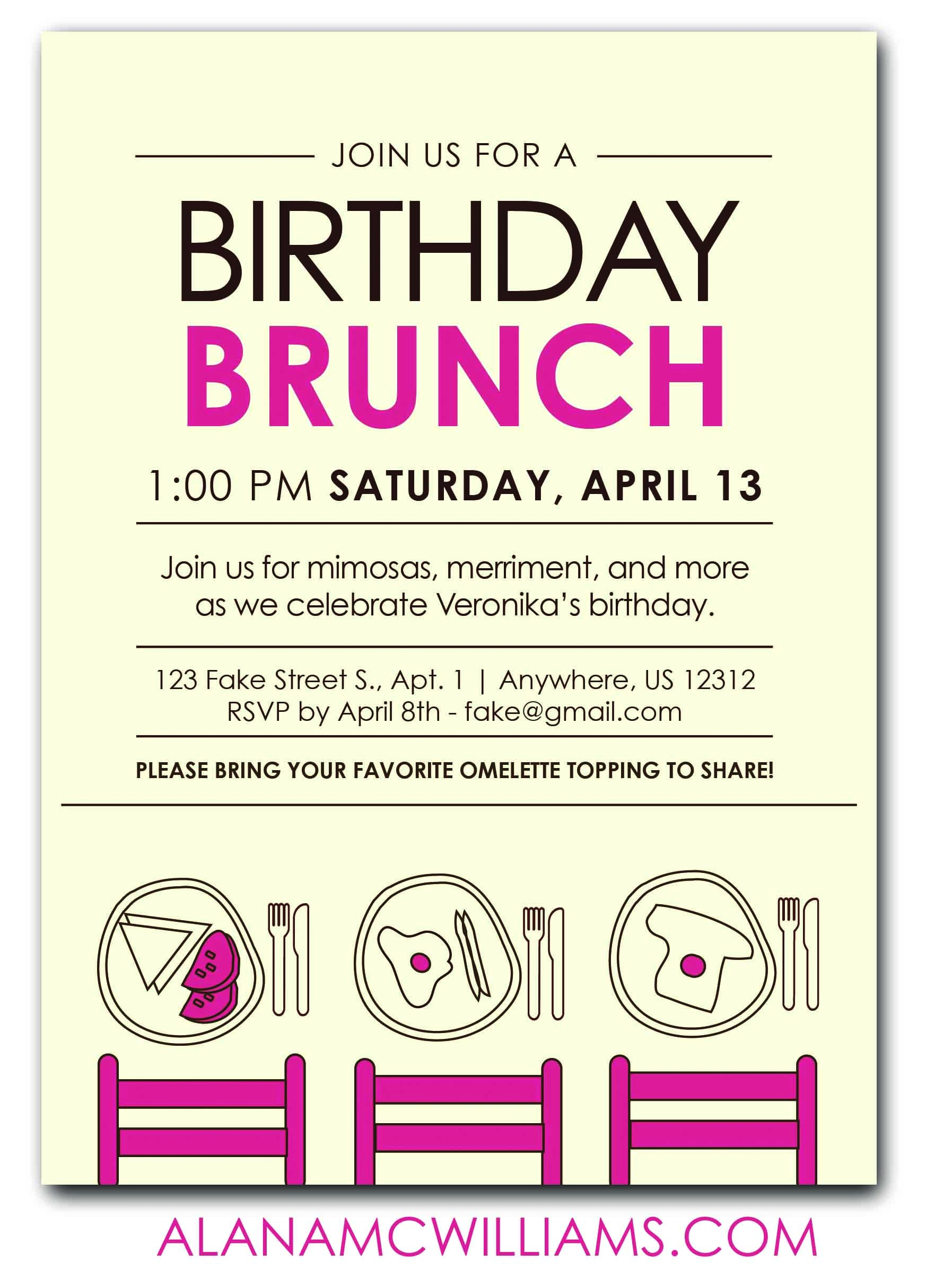 birthday luncheon invitations wording