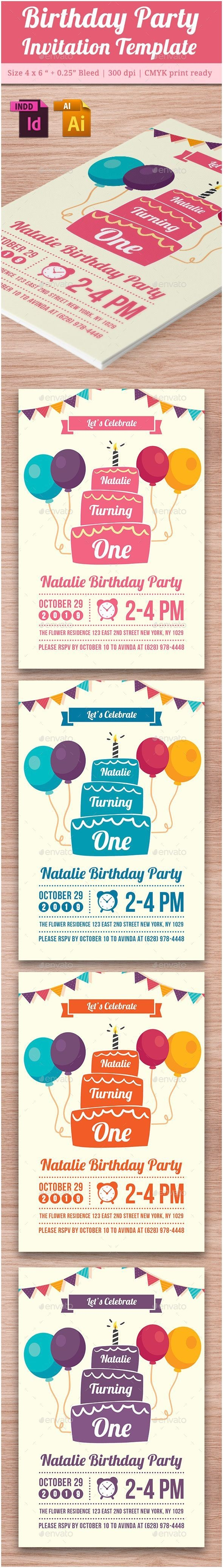 lush party invitations baby birthday template vol 4 pinterest
