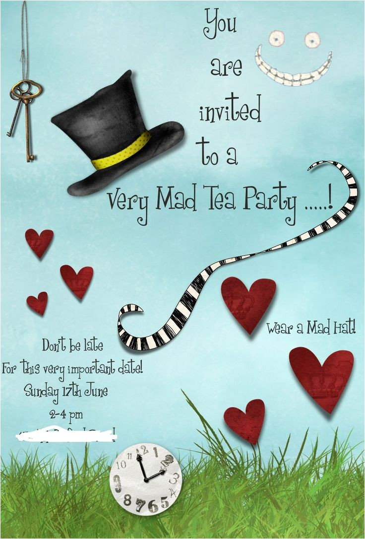Mad Hatter Tea Party Invitation Template Mad Hatters Tea Party Invitation Template Free Tea Party