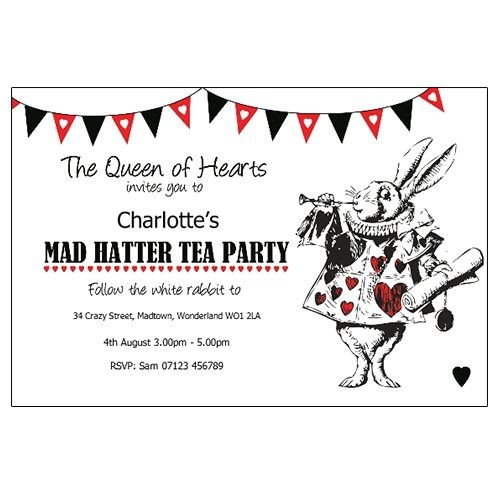 Mad Hatter Tea Party Invitation Template Mother Daughter Tea Mad Hatter theme Invitations Google
