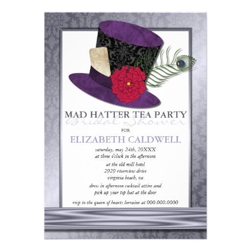 free mad hatter template invitation