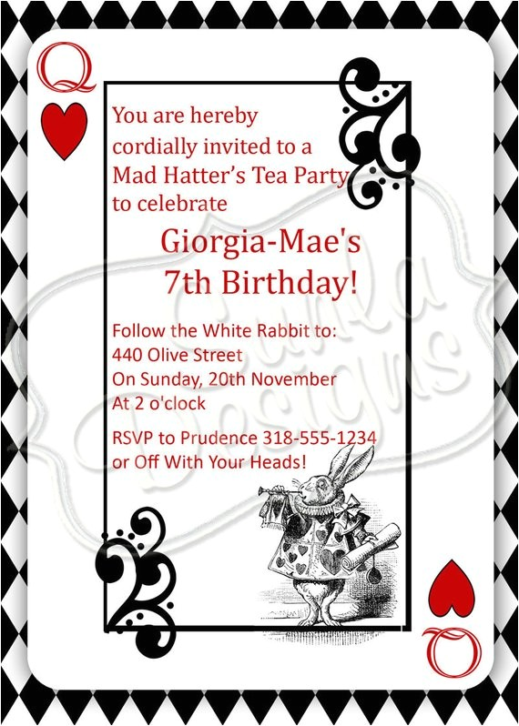 mad hatters tea party birthday party or