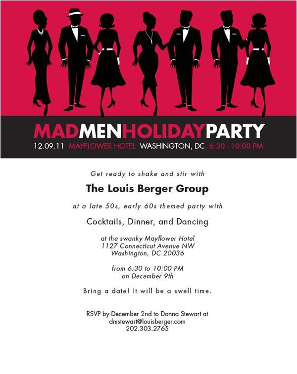 mad men holiday party invitation
