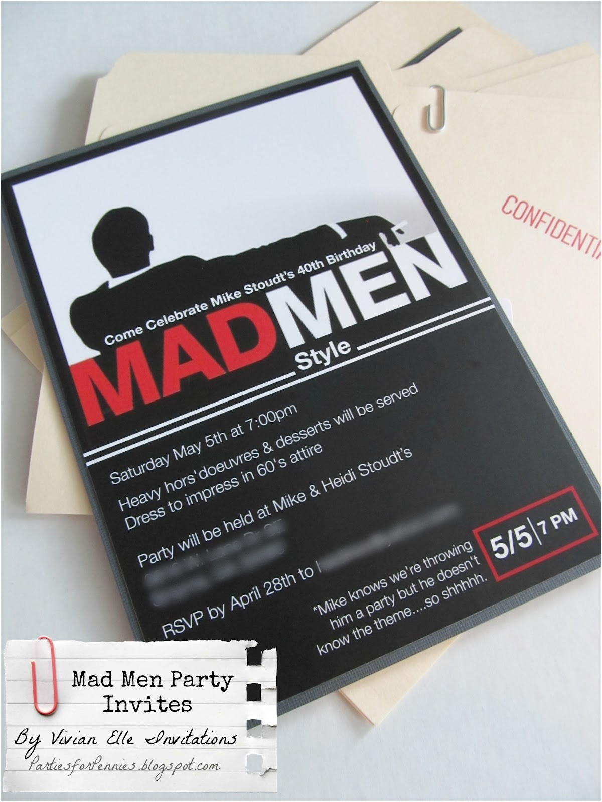 mikes mad men invitations