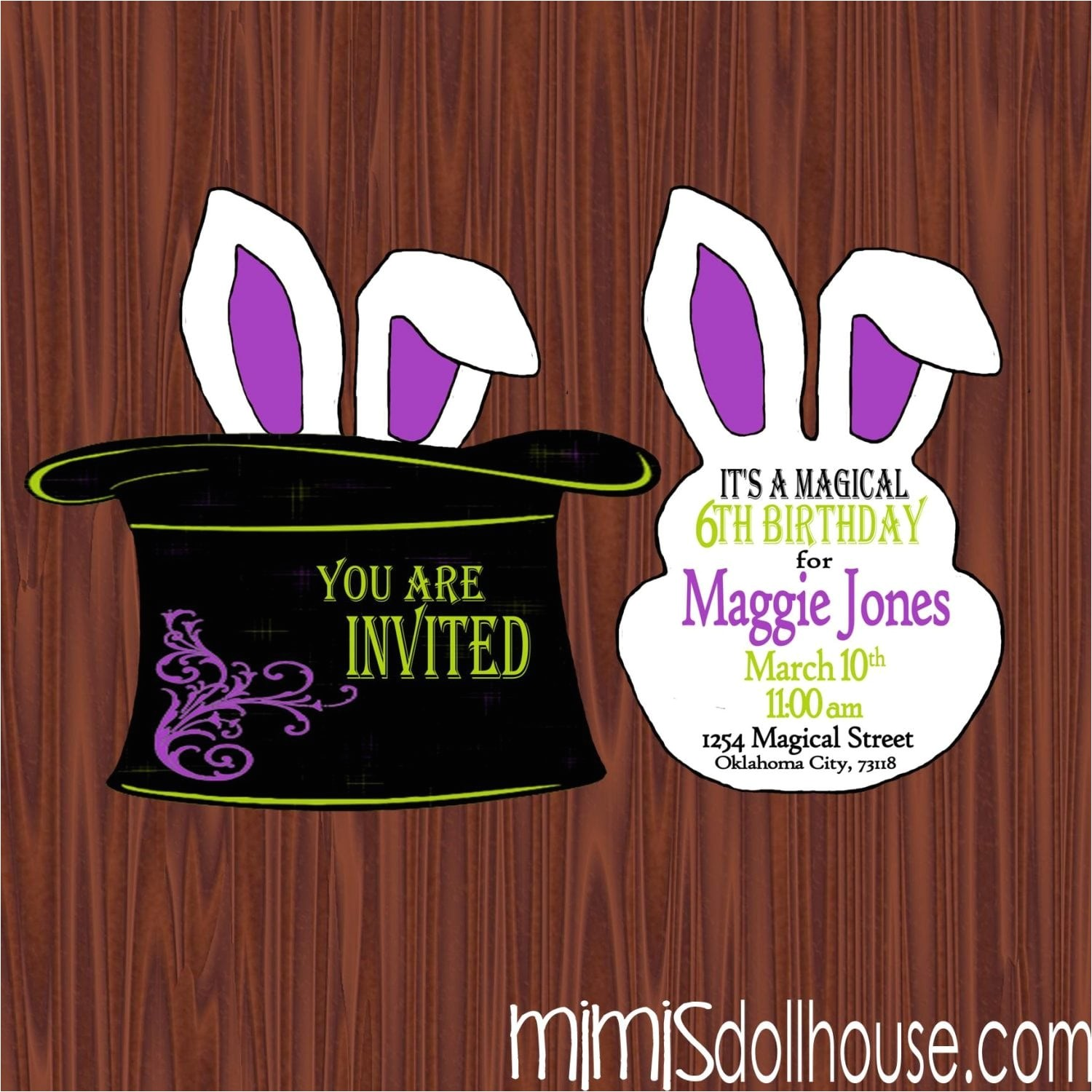 magic party printable collection purple