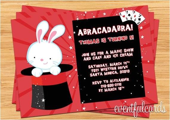 magic show birthday party invitation