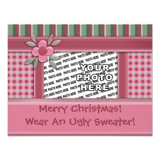 create your own ugly sweater christmas party invitation 161947905236923942
