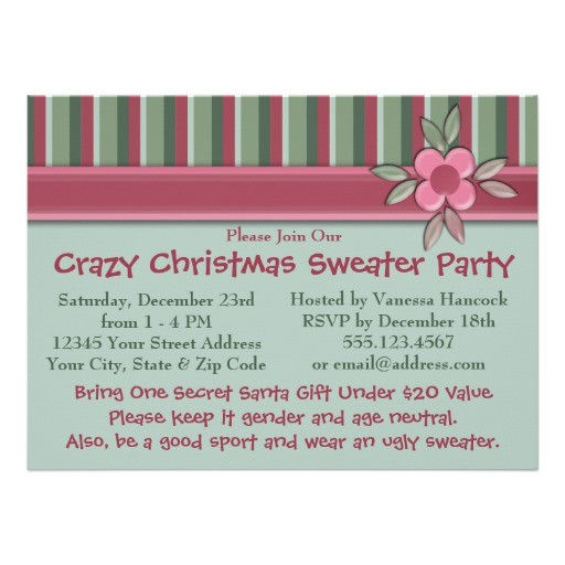 create your own ugly sweater christmas party invitation 161738155680495684