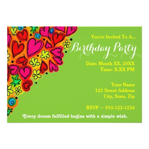 create your own birthday party invitation 256357306602047323