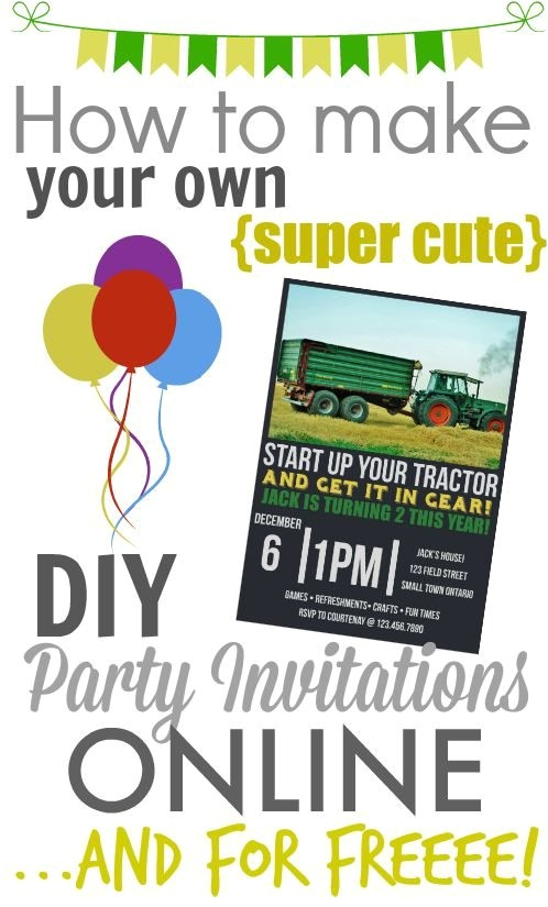 make your own diy printable party invitations