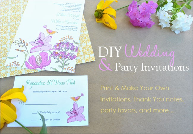 design your own invitations free template