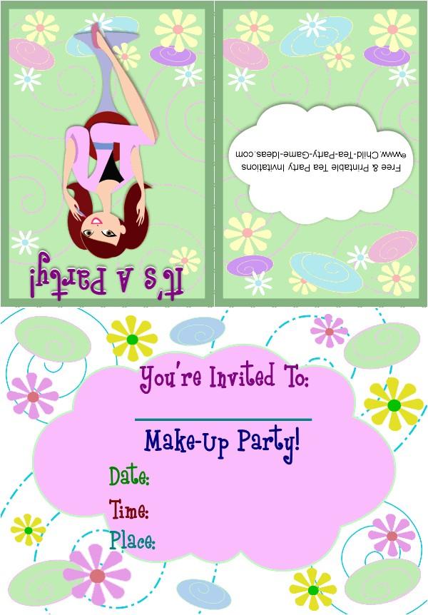 makeup party invitation 1a