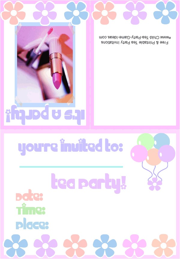 makeup party invitation 2b