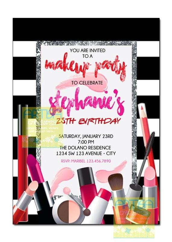 makeup invitation makeup party