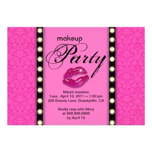 makeup party invitation advertisement 161165165630480085